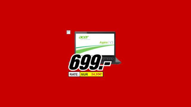 Acer Aspire V3-772G ©Media Markt