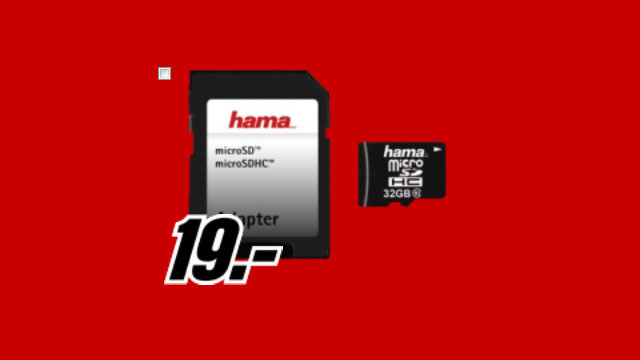 Hama microSDHC 32 GB Class 10 ©Media Markt