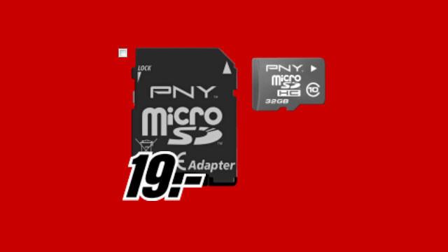 PNY microSDHC 32GB Class 10 ©Media Markt