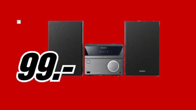 Sony CMT-S40D (schwarz) Allround-Unterhaltungs-System ©Media Markt