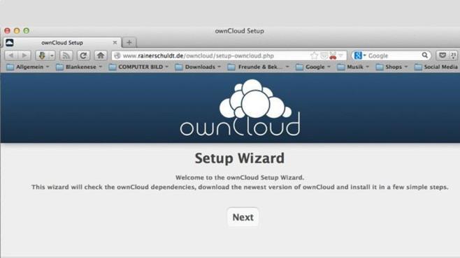 ownCloud: Eigenen Webspeicher einrichten ©COMPUTER BILD