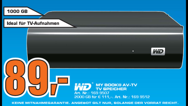 WD My Book AV-TV © Saturn