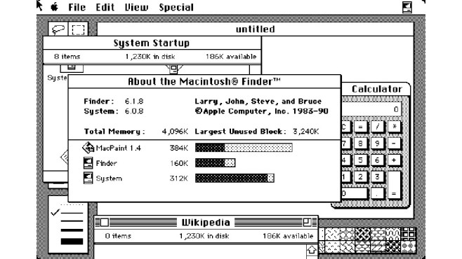 Mac OS 6 © Apple, Guidebookgallery.org