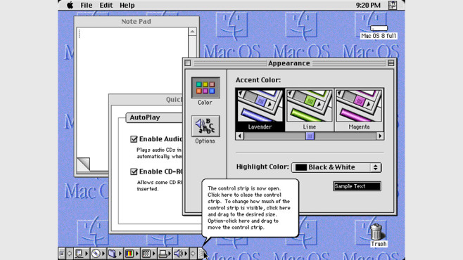 Mac OS 8 © Apple, Guidebookgallery.org
