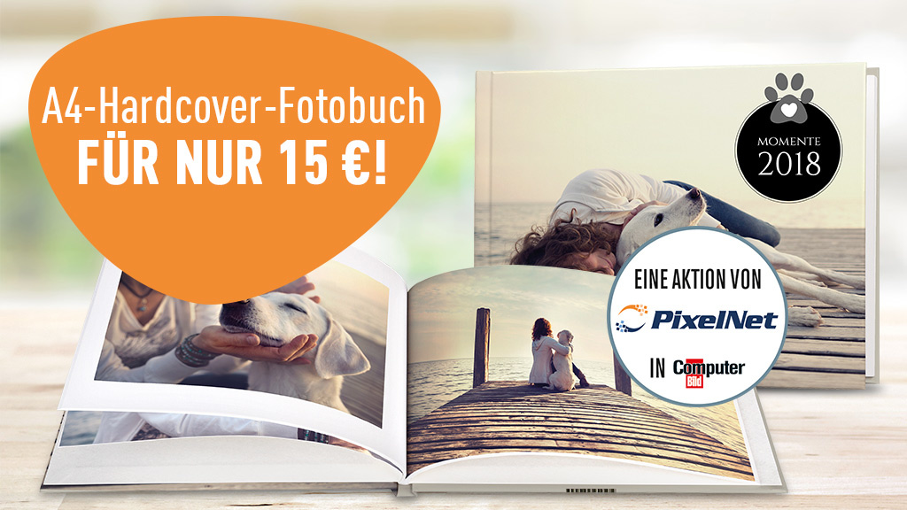 fotobuch mit 100 seiten f r nur 15 euro computer bild. Black Bedroom Furniture Sets. Home Design Ideas