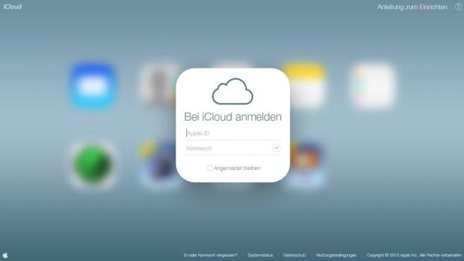 iCloud Anmeldung ©Apple