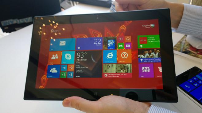 Nokia Lumia 2520: Display ©COMPUTER BILD