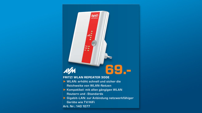 AVM FritzWLAN Repeater 300E © Saturn