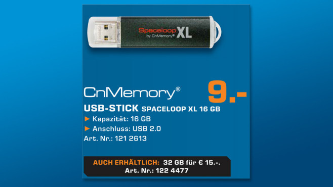 CnMemory Spaceloop XL 16GB © Saturn