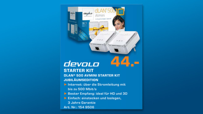 Devolo dLAN 500 AVmini Starter Kit © Saturn