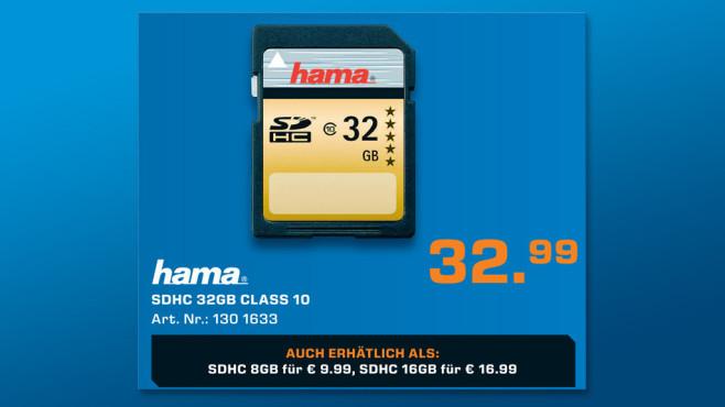 Hama SDHC 32GB Class 10 UHS-I 85MB/s (00114948) ©Saturn