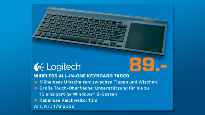 Logitech Wireless All-in-One Keyboard © Saturn