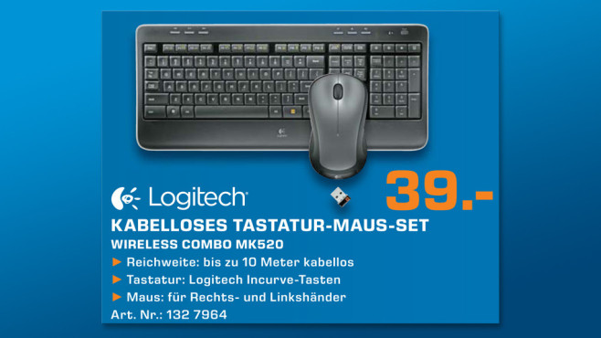 Logitech Wireless Combo MK520 DE © Saturn