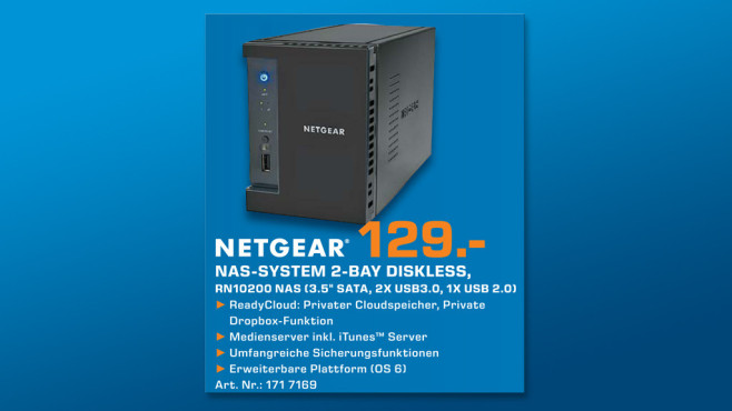 Netgear ReadyNAS 102 © Saturn