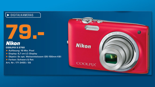 Nikon COOLPIX S2750 © Saturn