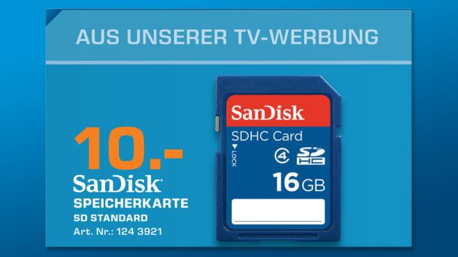 Sandisk Standard SDHC 16GB Class 4 (SDSDB-016G-B35) ©Saturn