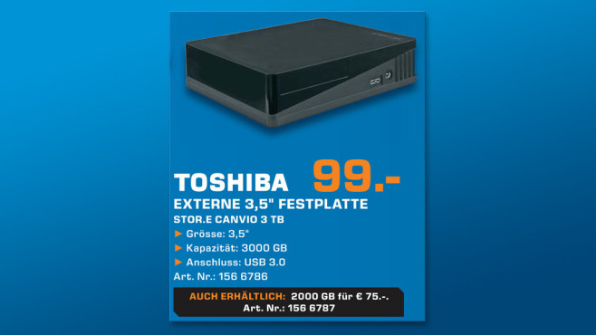 Toshiba StorE Canvio Desktop 3TB © Saturn