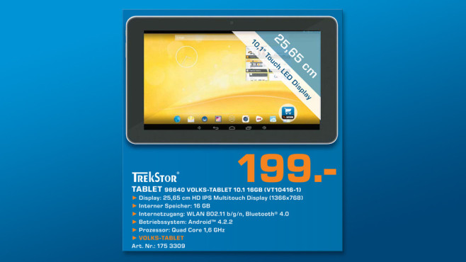 Trekstor Volks-Tablet 10.1 16 GB © Saturn