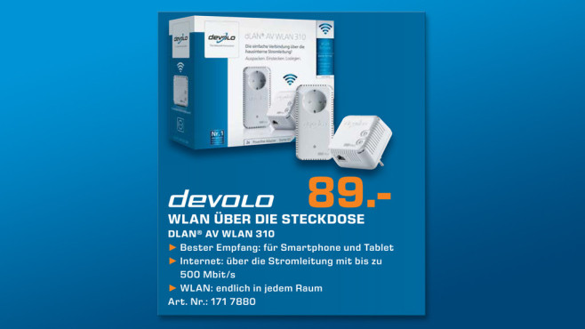 devolo DLAN AV WLAN 310 Starter Kit © Saturn
