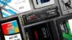 Die beliebtesten SSD-Speicher ©�istock.com/Ensup, OCZ, Crucial, Kingston, Sandisk, Mushkin, Silicon Power, Samsung