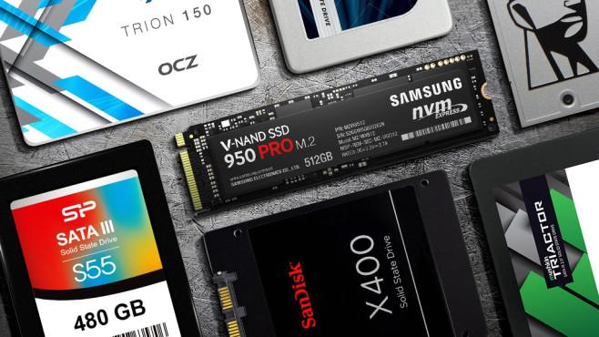 Die beliebtesten SSD-Speicher ©©istock.com/Ensup, OCZ, Crucial, Kingston, Sandisk, Mushkin, Silicon Power, Samsung