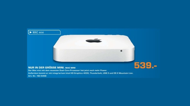 Apple Mac Mini (MD387D/A) © Saturn