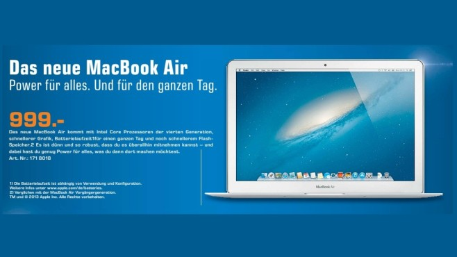 "Apple Macbook Air 13"" (MD760D/A) © Saturn"