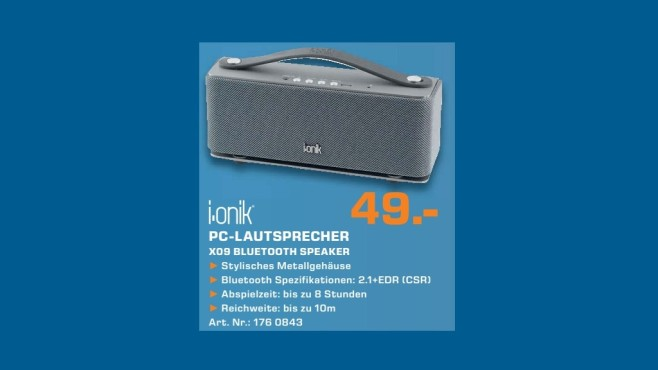 I.ONIK BT-Speaker X09 anthrazit 23230 © Saturn