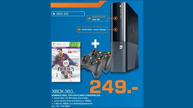 Microsoft Xbox 360 E 250GB + FIFA 14 ©Saturn