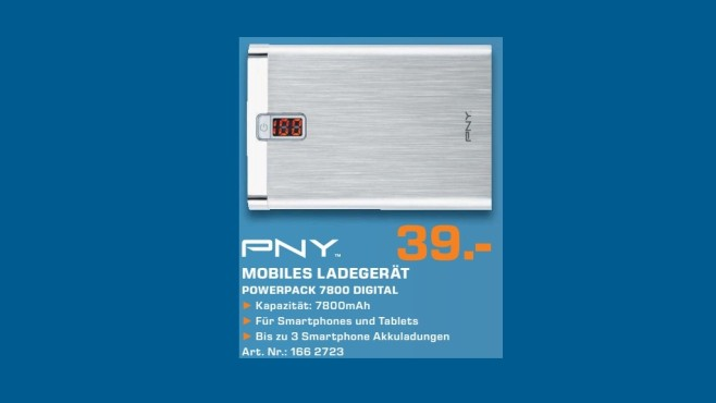 PNY PowerPack Digital 7800 © Saturn
