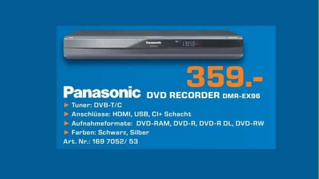 Panasonic DMR-EX96C © Saturn