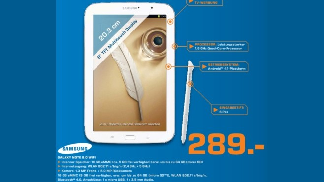 Samsung Galaxy Note 8.0 WiFi 16GB © Saturn
