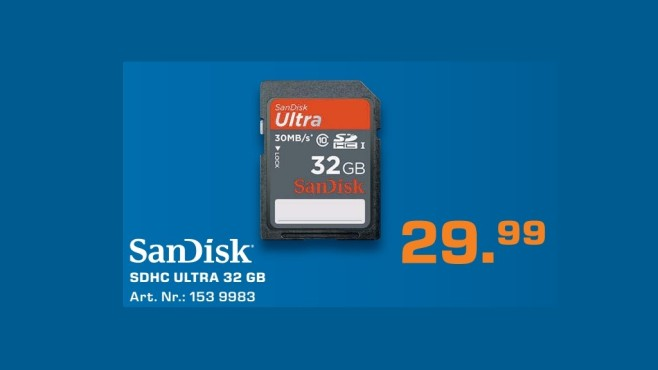 Sandisk Ultra 32GB SDHC Class 10 ©Saturn