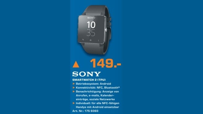 Sony SmartWatch 2 SW2 © Saturn