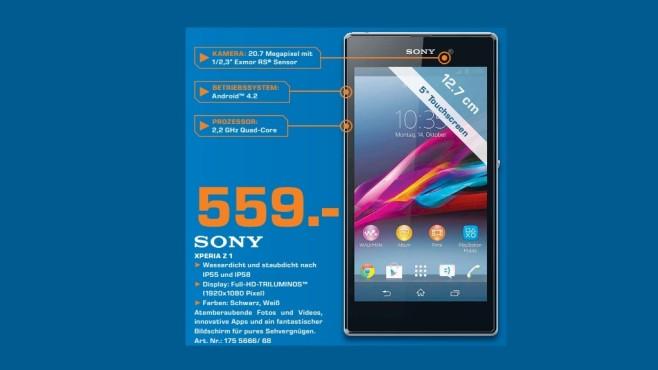 Sony Xperia Z1 ©Saturn