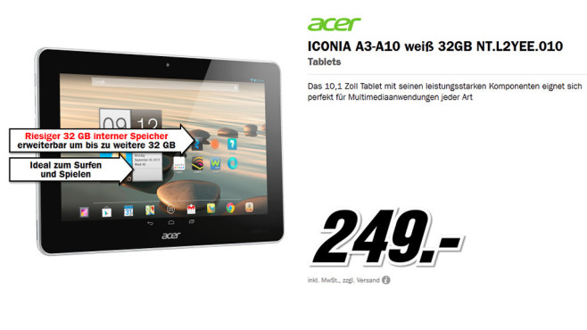 Acer Iconia A3 32GB WiFi © Media Markt