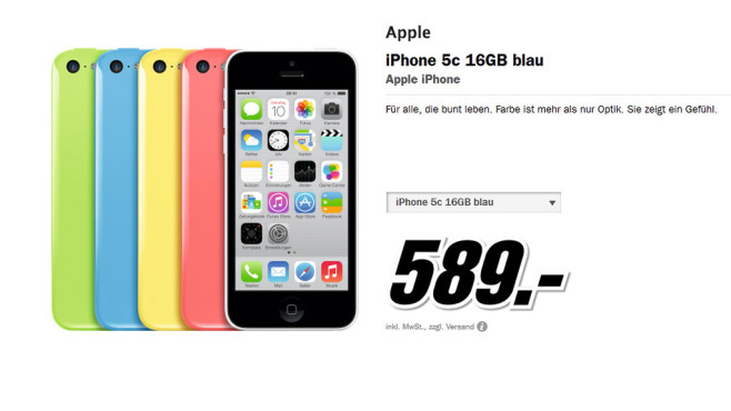 Apple iPhone 5C 16GB © Media Markt