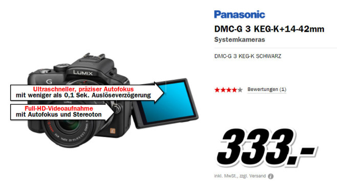 Panasonic DMC-G3 © Media Markt
