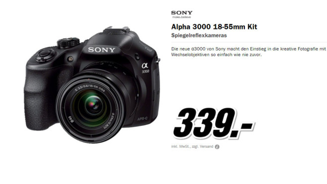 Sony Alpha 3000 © Media Markt