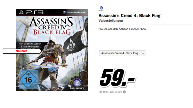 Assassin's Creed 4: Black Flag (PS3) © Media Markt