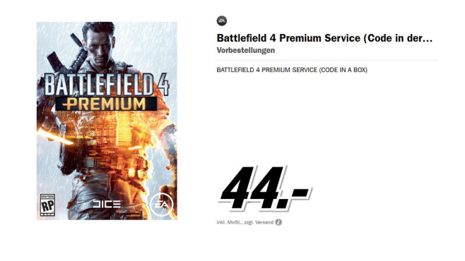 Battlefield 4 Premium Service (Code in der Box) © Media Markt