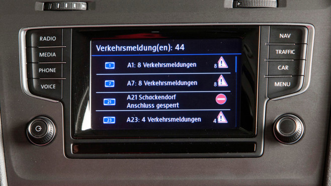 VW Navigationssystem Discover Pro ©Horst Piezug / AUTO BILD