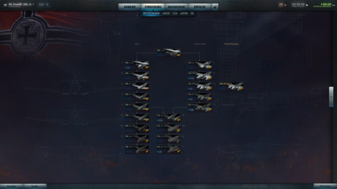 Online-Actionspiel  World of Warplanes: Flugzeugkunde © wargaming.net