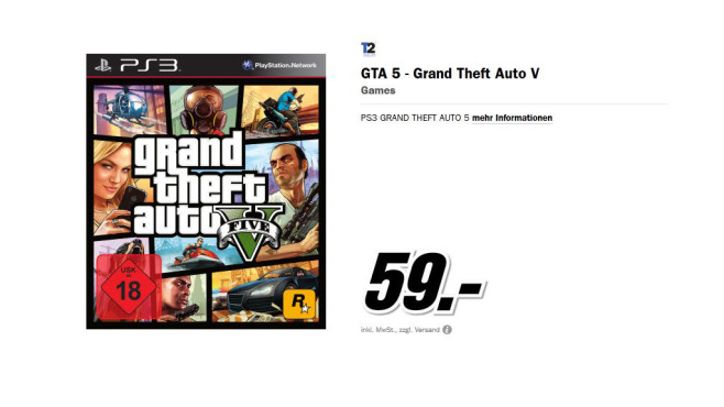 Grand Theft Auto (GTA) V © Media Markt