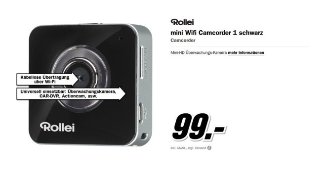 Rollei mini Wifi Camcorder 1 © Media Markt