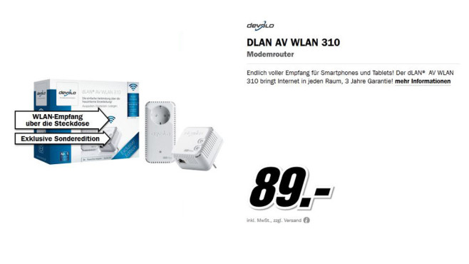 Devolo DLAN AV WLAN 310 © Media Markt