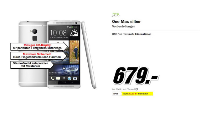 HTC One Max © Media Markt