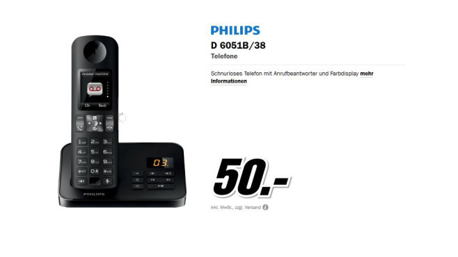 Philips D605 Solo © Media Markt