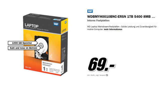 Western Digital SATA Retail Kit 1TB Western Digital SATA Retail Kit 1TB Western Digital SATA Retail Kit 1TB Western Digital SATA Retail Kit 1TB WD SATA Retail Kit WDBMYH0010BNC © Media Markt