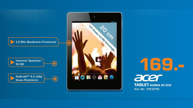 Acer Iconia A1-810 16GB ©Saturn